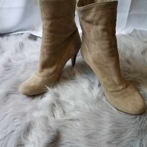 Coach suede booties size 9